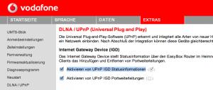 UPNP Aktivierung EasyBox 802